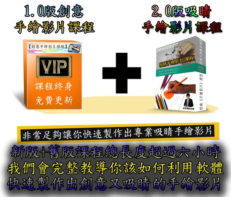 林瑋網路行銷課程 - 創意手繪影片學院新版+舊版
